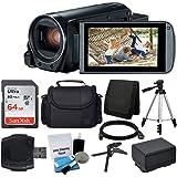 Canon VIXIA HF R800 Camcorder (Black) + SanDisk 64GB Memory Card + Digital Camera/Video Case + Extra Battery BP-727 + Quality Tripod + Card Reader + Tabletop Tripod/Handgrip - Deluxe Accessory Bundle