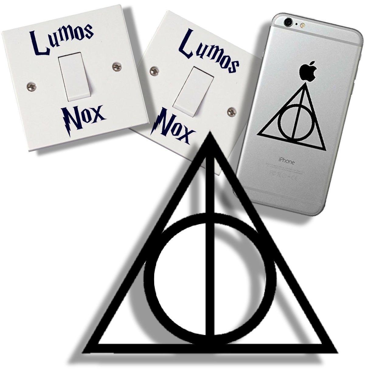 EasyTime Uk (TM) - Adesivi per interruttore, tema: Harry Potter e i doni della morte, con confezione regalo