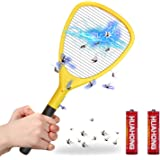 Wellgoo Large Electric Bug Zapper Swatter Fly Trap High Voltage Handheld Mosquito Killer Racket, 1 Pack