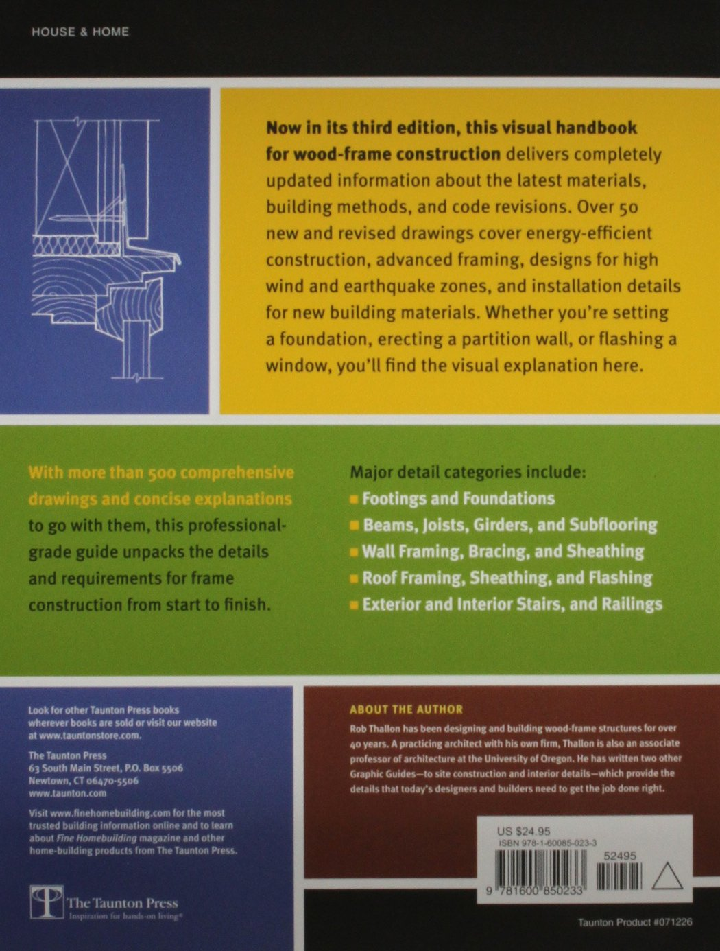 Graphic Guide to Frame Construction: Details for Builders and ...