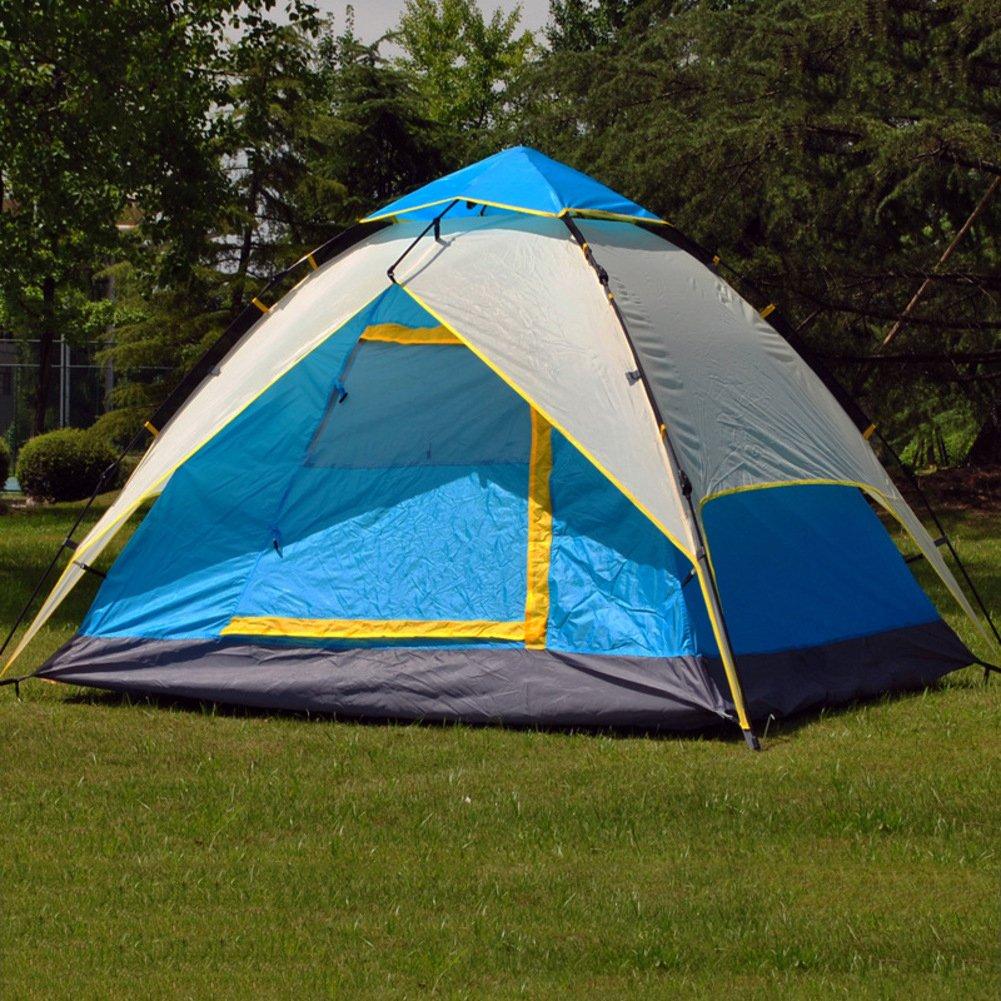 TY&WJ Vollautomatische Campingzelt Schnelles Öffnen Double Layer Kuppelzelte Hydraulische Outdoor Zelten Klettern Wandern Tipi 3-4 Personen