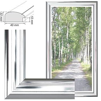 Gold Chrome Weiß Natur Braun Bilderrahmen für Bilder in Größe 40x50cm Farben