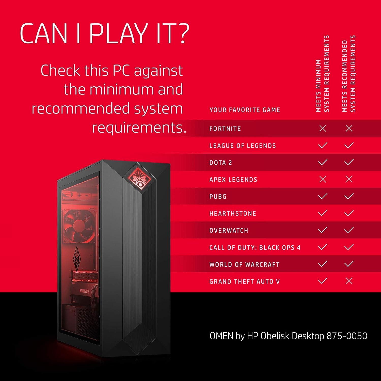 OMEN by HP Obelisk Gaming Desktop Computer, AMD Ryzen 7 2700 Processor,  NVIDIA GeForce GTX 1070 8 GB, HyperX 16 GB RAM, 1 TB hard drive, 256 GB  SSD,
