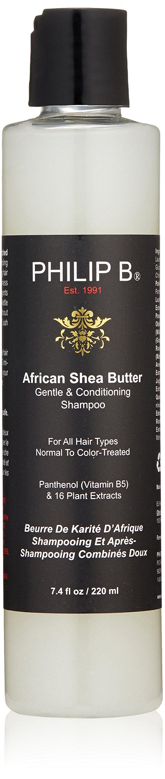 Philip B African Shea Butter Shampoo, 7.4-Ounce Bottle