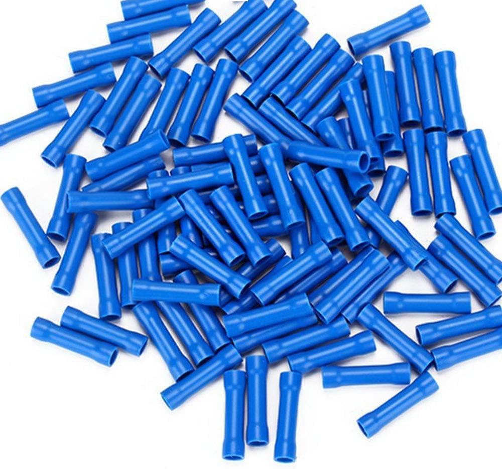 RuiLing 100pcs 16-14 Gauge Butt Splice Connectors,Insulating Wire Quick Splice Crimp Terminals