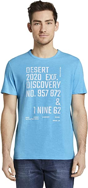 TALLA M. Tom Tailor Wüstendruck Camiseta para Hombre
