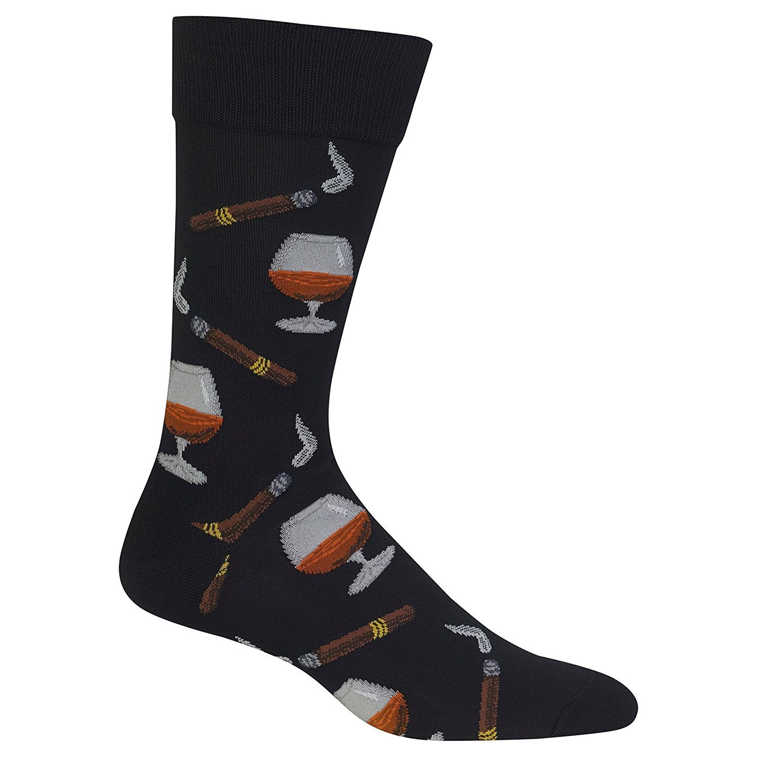 Hot Sox Mens Slack Crew Comes with a Helicase Brand Sock Ring