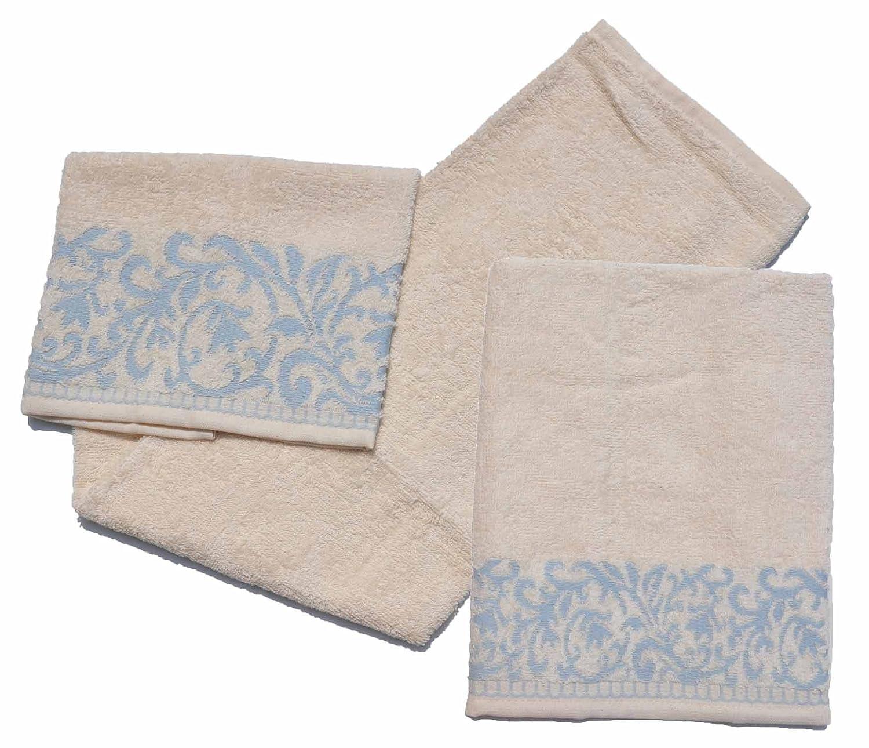 CASA TESSILE Lisa coppia di asciugamani in spugna cotone - ECRU OB Textile