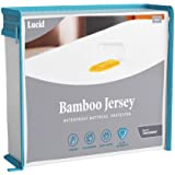 LUCID Premium Rayon from Bamboo Jersey Mattress Protector - Ultra Soft - Waterproof - Dust Mite Proof - Hypoallergenic - Full