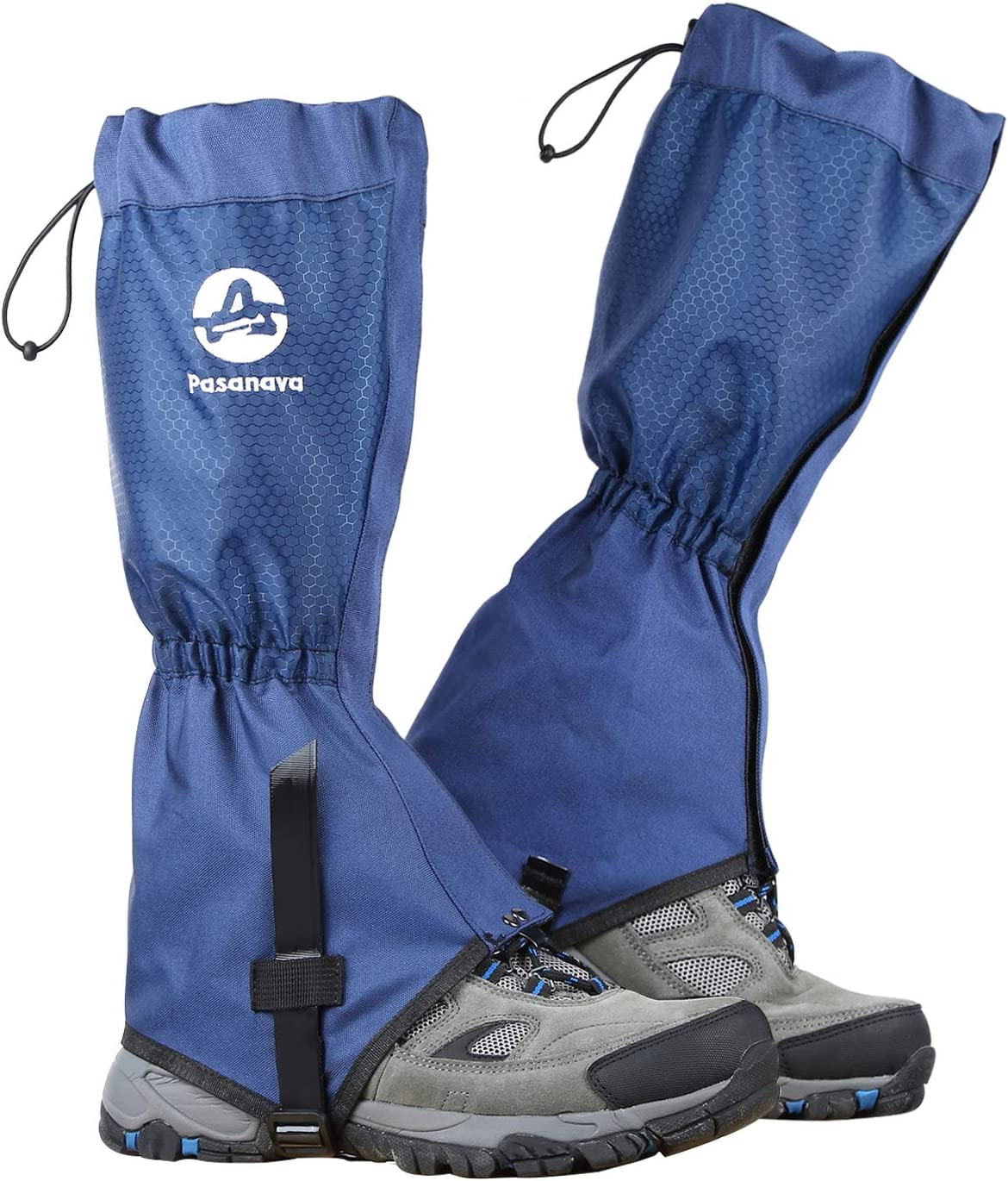 Pasanava Leg Gaiters Waterproof and Adjustable Walking Snow Gaiters with TPU Foot Strap for Hiking,Hunting,Backpacking and Outdoor for Men and Women
