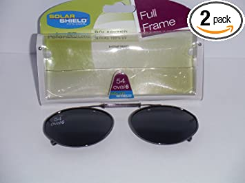 c2e97db945c Image Unavailable. Image not available for. Color  Solar Shield Polarized Clip  on Full Frame Sunglasses 54 Oval 6