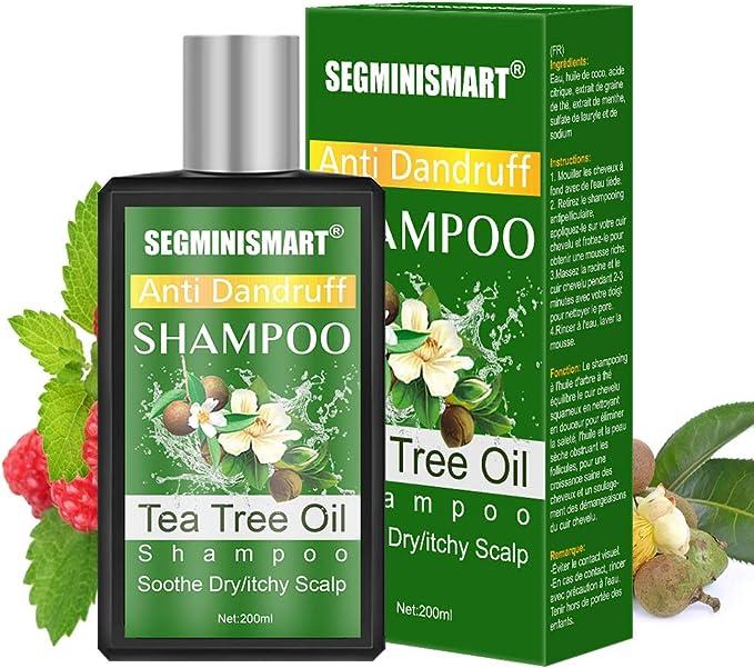 Champú de árbol de té,Champú AntiCaspa de Aceite de Arbol de Te,Champú de Árbol del Té,limpieza profunda de caspa, el cuero cabelludo seco y el cabello con picazón: Amazon.es: Belleza