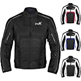 Textile Motorcycle Jacket For Men Dualsport Enduro Motorbike Biker Riding Jacket Breathable CE ARMORED WATERPROOF Large Black