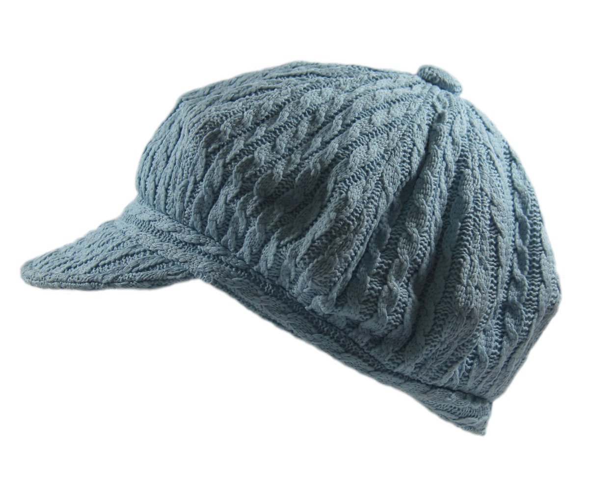 32b5960f8f7 ... inexpensive knit cable newsboy hat black at amazon womens clothing  store 859ad e2838