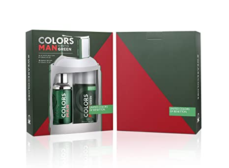 2bc58d5308 Buy United Colors Of Benetton Colors Man Green Eau De Toilette 100 Ml +  Deodorant Spray 150Ml Online at Low Prices in India - Amazon.in