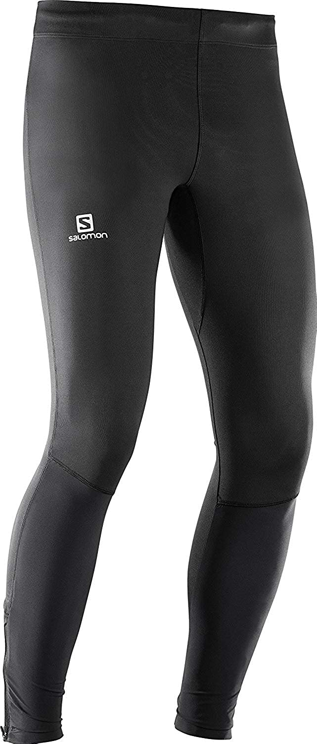 Salomon Herren Lange Laufhose, Agile Tight, Jersey
