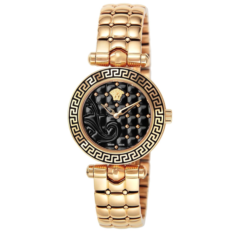 [ヴェルサーチ]VERSACE 腕時計 マイクロバニタス ブラック文字盤 VQM050015 レディース 【並行輸入品】 B01N536V8P
