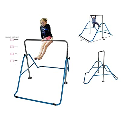 Toykraft Kids Jungle Gymnastics Adjustable Monkey Bars Climb Tower Expandable: Toys & Games