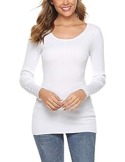 ACHIOOWA Mujeres Mangas Cortas Damas Oficina Elegante Blusa Camiseta Casual Abotonada Cuello Abotonado