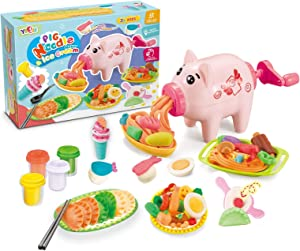 Playdough Kitchen Creations Noodle Party & Ultimate Swirl Ice Cream Maker Play Food Set for Kids 3 Years and Up