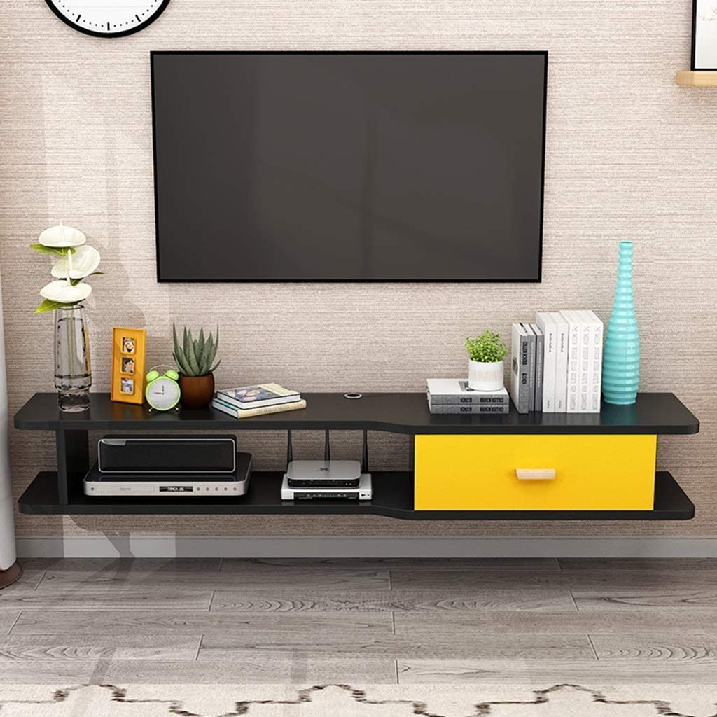 Floating Shelf Wall Tv Cabinet Modern Floating Tv Stand Console Furniture Tv Mounts Tv Board Rack Media Console Entertainment Center For Blu Ray Players Video Game Consoles Cable Boxes Speakers Amazon Co Uk Kitchen