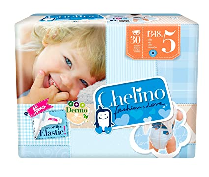 Chelino Fashion & Love Junior - Pañal infantíl, talla 5, 1 pack con 30