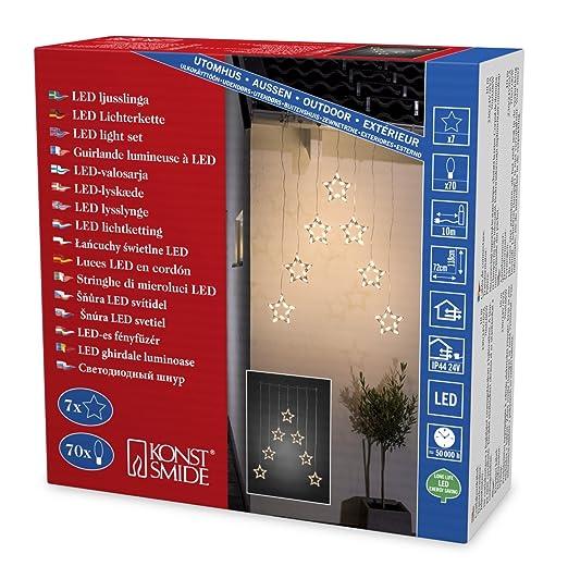 Weihnachtsbeleuchtung Außenbereich.Weihnachtsbeleuchtung Außenbeleuchtung Lichtervorhang Led 7 Sterne
