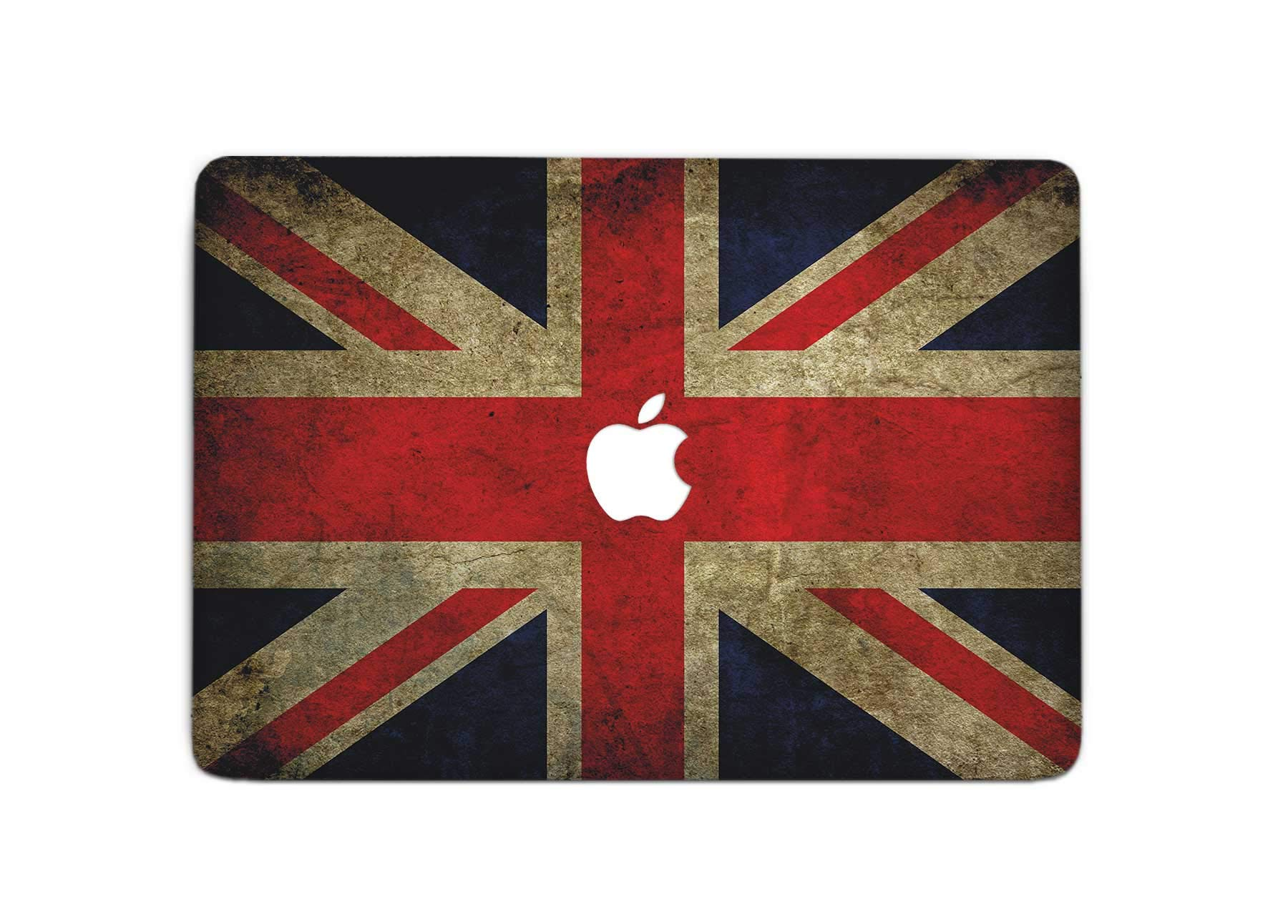 ZizzStore British National Flag MacBook Decal Laptop Skin Protective Sticker for MacBook Protective Notebook Apple Computer Gift Union Jack Vinyl Sleeve (Pro Retina 15 (A1398), T+B+A)