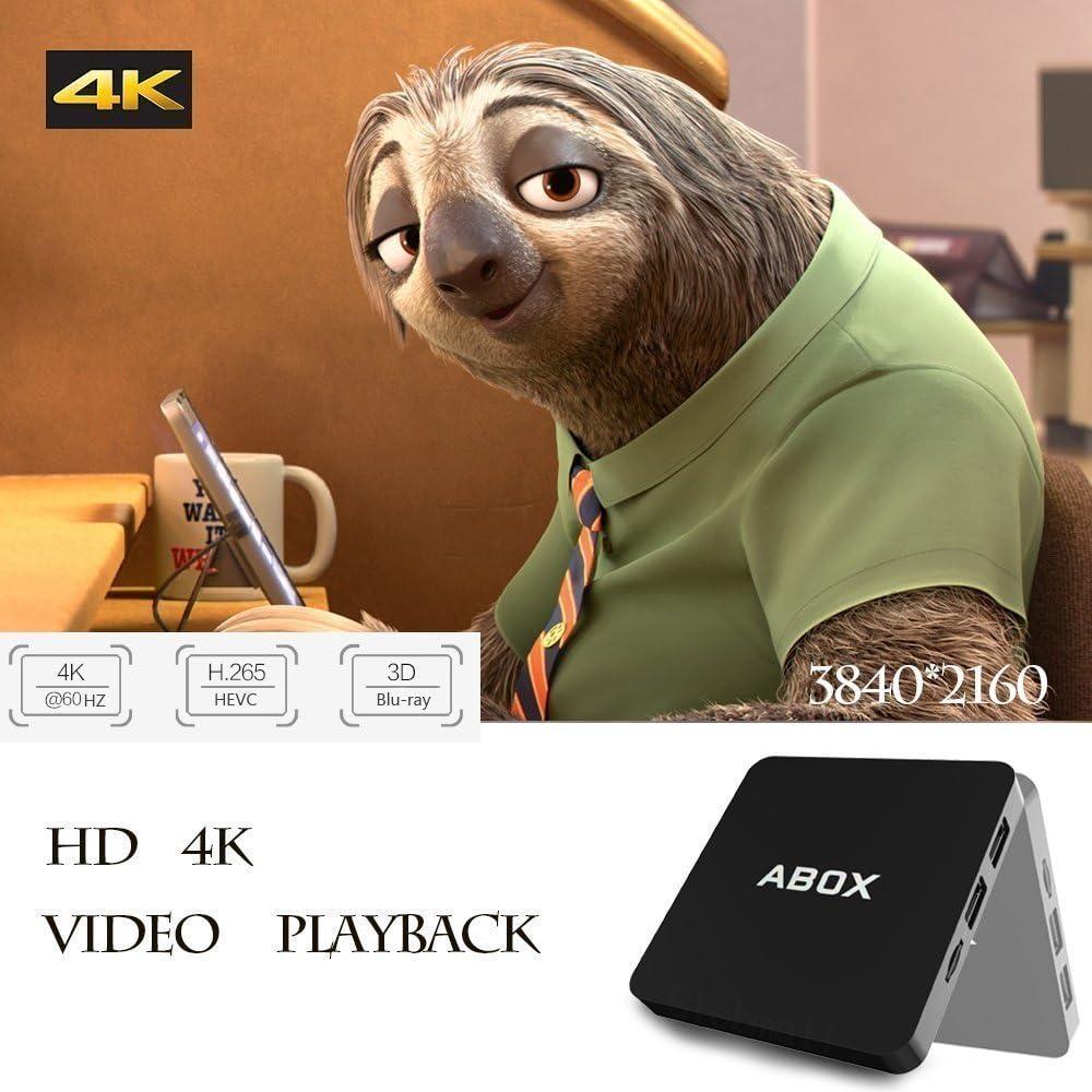 globmall Android 6.0 TV Box [Mini teclado inalámbrico y mando a distancia], Abox 1 G RAM 8 G ROM 4 K WiFi Smart TV Box con Quad-Core 64 bits CPU Amlogic Chip: Amazon.es: Electrónica