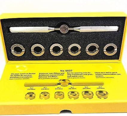 Professionnel Montre Réparation Étui Coque Arrière Ouvre Outil Clé Kit Batterie