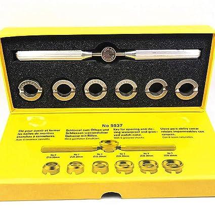 Juego de llaves de reparación de relojes, 7 piezas, herramienta de reparación, abridor