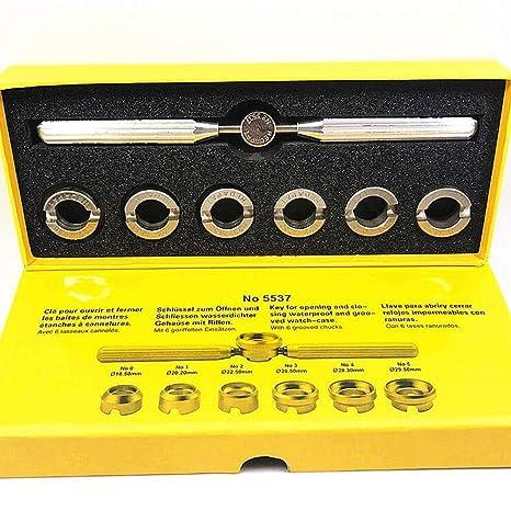Uhrengehäuse-Öffner Entferner, 7 Stück, verschiedene Größen mit Aufbewahrungstasche, Uhrmacher-Reparatur-Set mit ideal für Ro