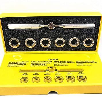 Herramienta de extracción de carcasa trasera para reloj Rolex Tudor, kit de reparación de relojes de 7 piezas con diferentes tamaños de kit de herramientas ...
