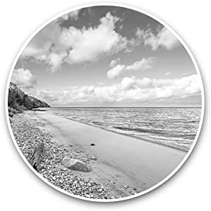 Awesome Vinyl Stickers (Set of 2) 7.5cm (bw) - Lake Michigan North America USA Fun Decals for Laptops,Tablets,Luggage,Scrap Booking,Fridges,Cool Gift #43122