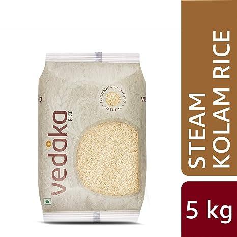 Amazon Brand - Vedaka Kolam Rice, Steamed, 5kg