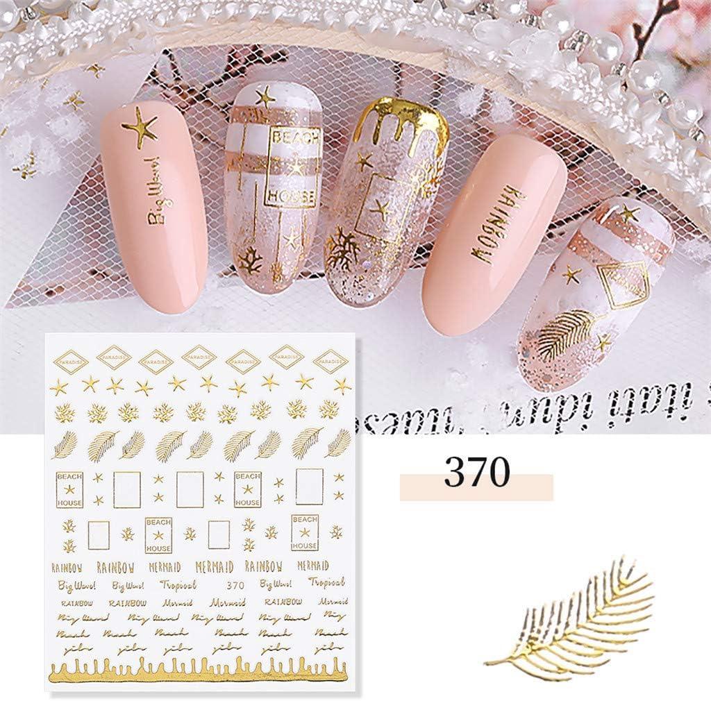 Yu2d Pegatina para uñas en 3D, diseño de Estrellas y Lunas ...