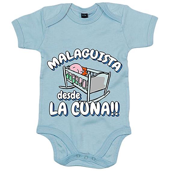 Body bebé Malaguista desde la cuna Málaga fútbol - Azul Royal, 6-12 ...