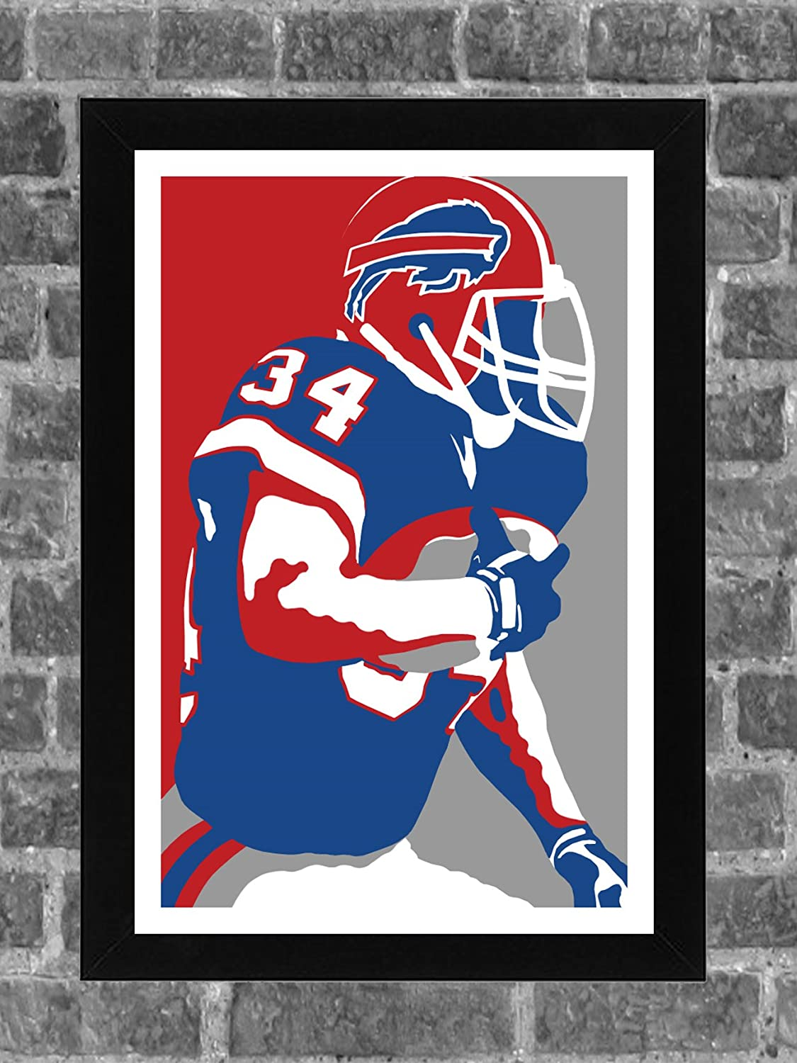 Buffalo Bills Thurman Thomas Portrait Sports Print Art 11x17 FanFourLife