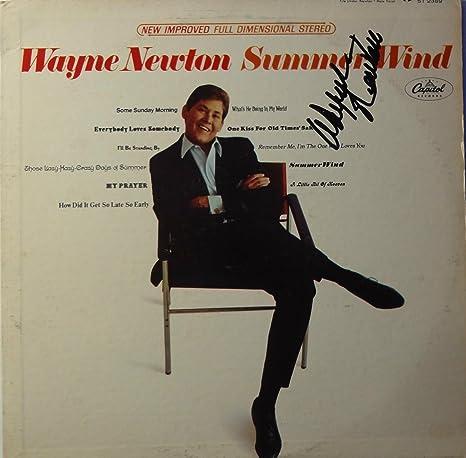 Entertainment Memorabilia Signed Wayne Newton Autographed Lp Album Cover Nice! Records
