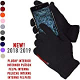 AXELENS Guanti Touch Screen Capacitivi per Smartphone Cellulari e Tablet Universali Unisex Nero