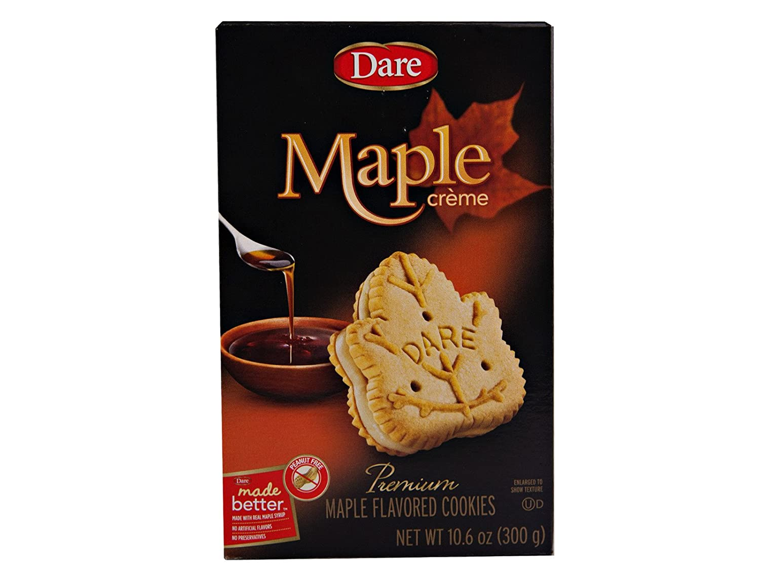 Dare Foods Maple Leaf Creme Cookies 3 /10.2 Ounce Boxes