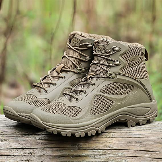 Amazon.com : Outdoor Trekking Boots Men Military Tactical Hiking Shoes Botas Tactica Militar Non-Slip Breathable Mountain Shoes : Sports & Outdoors