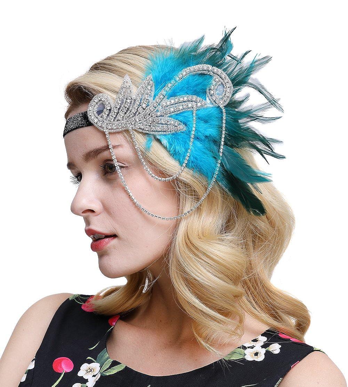 FAIRY COUPLE Inspiriert 1920er Flapper Stirnband Zubehör Gatsby Style 20er Jahre Kopfstück A-H039002
