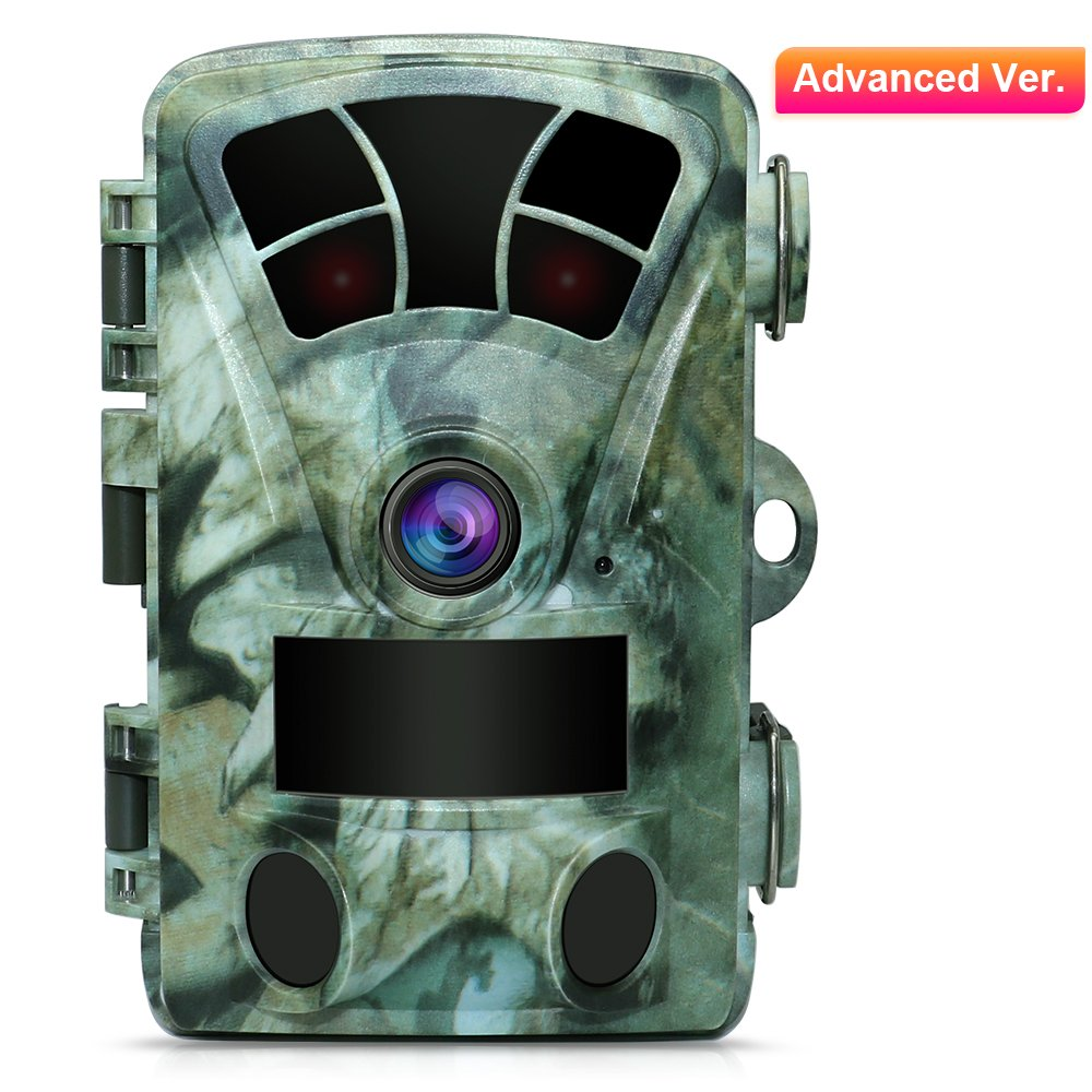 AIMTOM T905 Hunting Trail Camera, 2.4'' Screen 16MP 1080P Stealthy Wildlife Game CAM 2Pcs 98Ft No Glow Super Power IR LEDs 130 Degree Wide Angle Lens 82Ft Night Vision 0.2S Fast Trigger Waterproof by AIMTOM