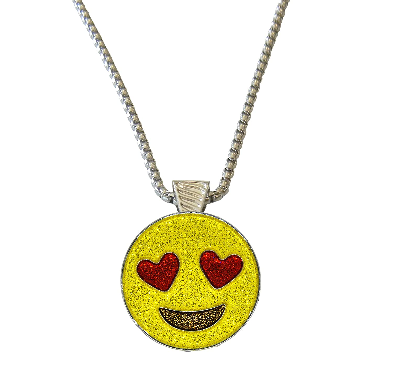 Emoji Loveキラキラボールマーカーデザイン磁気ネックレス   B0711L6QCJ