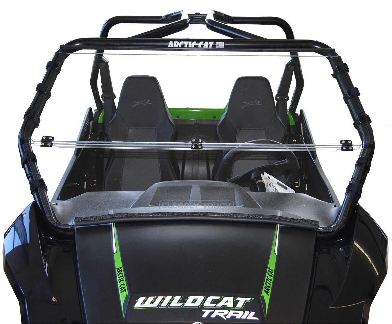Arctic Cat Wildcat TRAIL / Sport - Full Folding Scratch Resistant UTV Windshield. The Ultimate in Side By Side Versatility!Premium Polycarbonate w/ Hard CoatMade in America!!