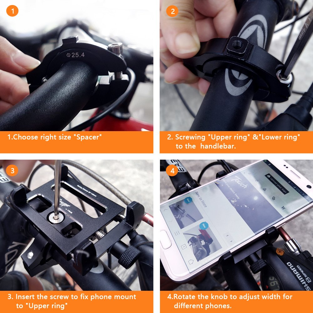 High End Handyhalterung für Lenker Konofit Smartphone Bike Mount Universal