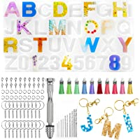 Alphabet Silicone Resin Molds, 34 Letter Number Epoxy Molds Keychain Resin Jewelry Molds for Resin Casting with Keychain…