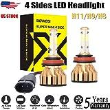 EISENKE high power h11 led headlight bulbs super bright automotive Lighting Conversion Kits high beam low beam 24000LM 6000K 130W Xenon white