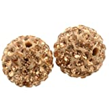 RUBYCA Pave Czech Crystal Disco Ball Clay Beads fit